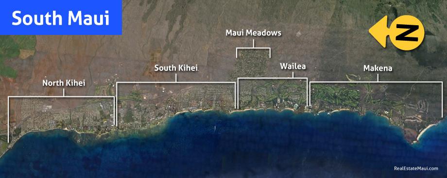 map of south maui